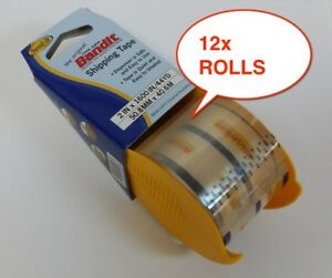 12x New Rolls Bandit Heavy Duty Shipping Packaging Packing Tape 2 X1600 44yd