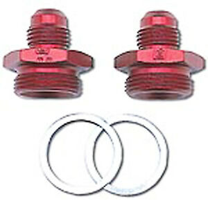 Russell 640220 Carb Inlet Fitting 6 Male Dual Feed Holley Fitting