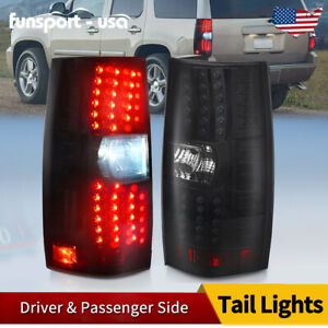 For 2007 2014 Chevy Tahoe Suburban Gmc Yukon Led Tail Lights Brake Lamp Assembly