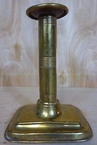 Antique Brass Push Up Candlestick Decorative Detailed Old Candle Holder Noag