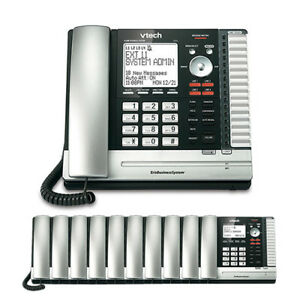 Vtech Up416 4 line Phone With Up406 10 Cordless Desksets