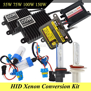 Xenon 55w 75w 100w 150w H1 H3 H4 H7 H11 9005 9006 Hid Headlight Conversion Kit