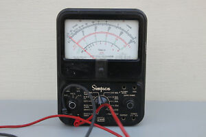 Simpson 260 Analog Volt Ohm Multimeter Voltmeter With Leads