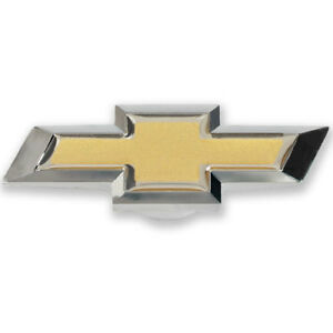 Gm 141 336 Chevy Bowtie Air Cleaner Wing Nut Gold And Chrome Large 3 1 8 1 4 20