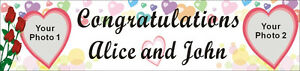 2ftx8ft Custom Personalized Congratulations Wedding Banner With 2 Your Photos