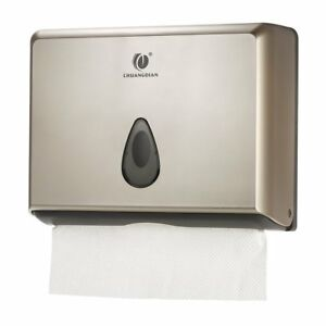 Silver Chuangdian Wall mounted Commercial Multifold Paper Towel Dispenser No Tax