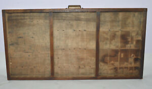 Vintage Printer s Type Tray drawer Shadow Box Full Size Case Three Compartment