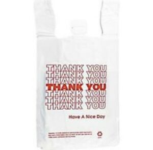 T shirt Bag Thankyou Plastic Grocery Retail Carry Out Bags large medium small