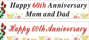 2ftx9ft Personalized Happy 25th 30th 40th 50th 60th Anniversary Banner