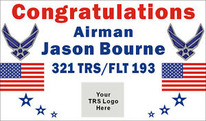 3ftx5ft Custom Personalized Congratulations Airman Us Air Force Banner W Logo