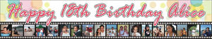 2ftx10ft Custom Personalized Happy 10th 18th Birthday Banner W 10 18 Photos