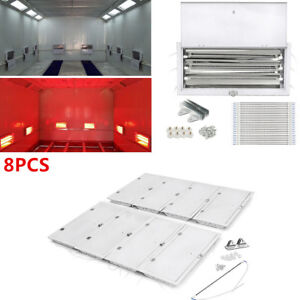 8 Sets 3kw Spray Baking Booth Infrared Paint Curing Lamp Heating Light Heater