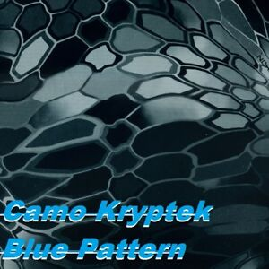1mx10m Water Transfer Printing Film Hydrographic Film camo Kryptek Blue Pattern