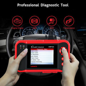 Launch X431 Crp123 Obd2 Auto Diagnostic Tool Scanner Engine Transmission Abs Srs