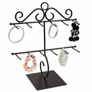3 Bracelet Displays Countertop Two Tiered Black Metal 12 X 14 Showcase