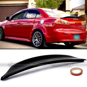 For 08 15 Lancer Evo X 10 Glossy Black Rs Style Rear Duck Trunk Wing Lip Spoiler