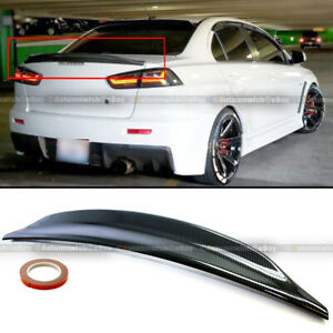 For 08 15 Lancer Evo X 10 Carbon Painted Rs Style Rear Duck Trunk Wing Spoiler