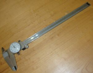 Mitutoyo 12 Inch Dial Veriner Caliper No 505 645 50 Inside Outside