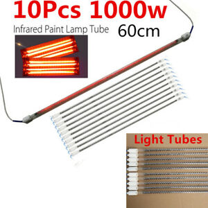 10pcs Of 1000w Lamp Tubes Spray Baking Booth Ir Infrared Paint Curing Lamp Light