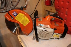 Stihl Ts 400 W h2o Hook Up 14 Inch Cut Off Saw New Blade Low Hours
