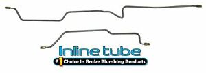 Fits 97 06 Jeep Wrangler Tj Preformed Hydraulic Rear Axle Brake Lines Stainless