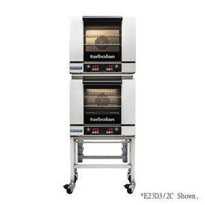 Moffat E23d3 2c Double Stacked Electric Turbofan Convection Oven With Casters