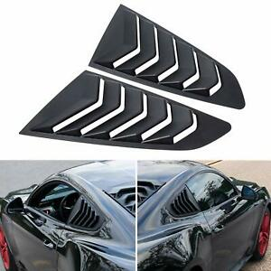 2x Quarter Side Window Louvers Scoop Cover Rear Vent For Ford Mustang 2015 2019
