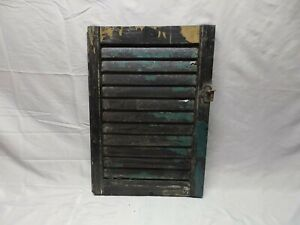 Antique House Window Wood Louvered Shutter Shabby Old Vtg Chic 23x16 68 18p