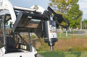 Bobcat Skid Steer Attachment New Lowe Bp210 Round Auger Unit Ship For 199