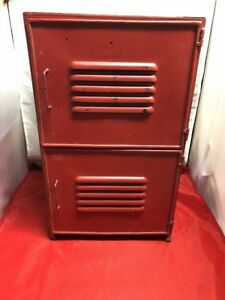 Vintage Two Door Metal Locker Night Stand Shoe Locker Kids Locker