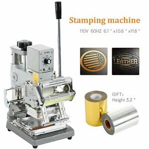 Pvc Card Hot Foil Stamping Printing Machine Manual Tipper Stamper 2 Roll Foil