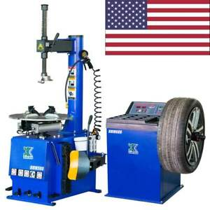 New 1 5hp Tire Changer Wheel Changers Machine Combo Balancer Rim Clamp 580 680