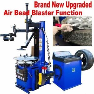 1 5 Hp Automatic Tire Changer Wheel Balancer Machine Rim Clamp Combo 960 680