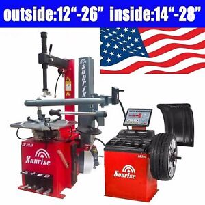 Tire Changer Sr112af Wheel Balancer Sr308 Machines Bead Air Blast New Model