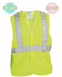 Yellow Reflective Safety Vest High visibility Breathable Mesh Construction 6