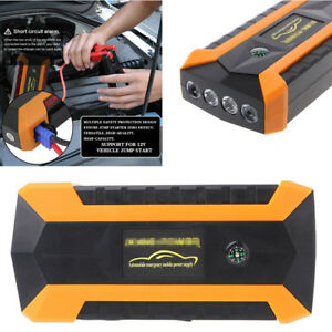 89800mah 12v 4 Usb Car Jump Starter Auto Charger Battery Power Bank With Box Led