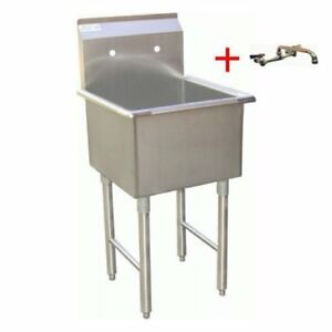 Apex Durasteel 1 Compartment Stainless Steel Commercial Food Preparation Sink