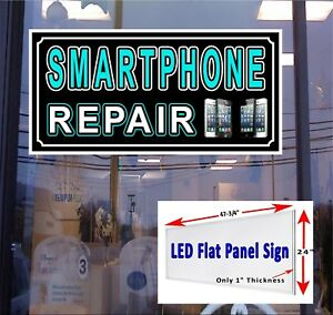 Led Sign Smartphone Repair 48x24 Window Sign Neon Banner Alternative New Led