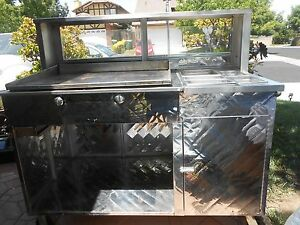 Custom Mobile Tacos Hot Dogs Vending Concession Cart