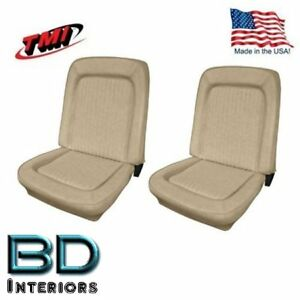 1968 1977 Ford Bronco Replacement Seat Upholstery Front Buckets Parchment
