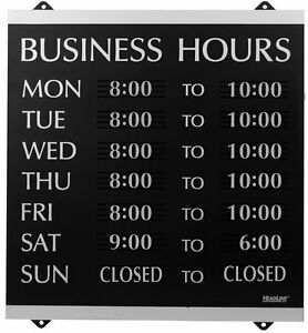 New U s Stamp Sign Headline Century Series 14x13 Inch Business Hours Sign
