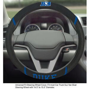 Brand New Ncaa Duke Blue Devils Black Mesh Extra Grip Steering Wheel Cover