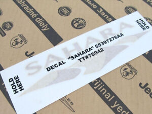 2007 2017 Jeep Wrangler Sahara Decal Oem New Mopar Genuine 55397276aa