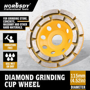 4 1 2 Diamond Cup Grinding Wheels Double Row Concrete 18 Seg Angle Grinder
