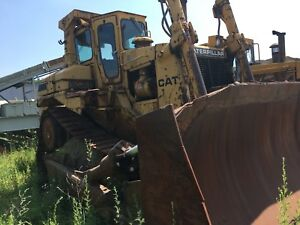 1986 Caterpillar D8l Crawler Dozer Tractor Cab Ripper Cat D8