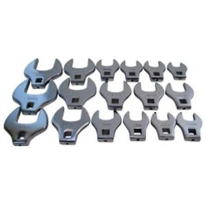 17 Piece 1 2 Drive Jumbo Crowfoot Wrench Set V8t7917 Brand New