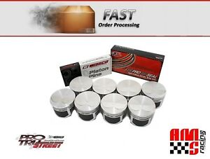 Wiseco Pro Tru Pts506a3 Pistons Small Block Chevy 383 2v Flat Top 4 040 Bore