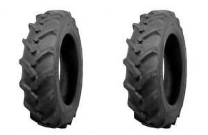 two Atf 7 50 16 7 50x16 Traction I 3 Lug Tractor Tires Tubes 8 Ply Rated