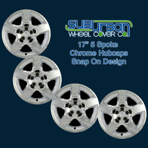 07 10 Pontiac G6 Replacement 17 Chrome Hubcaps Wheel Covers Wchc327717ch Set