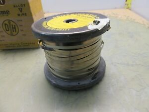 Partial Spool Driver harris Alloy V Nichrome Wire Ribbon 3 16 4 f 26 5